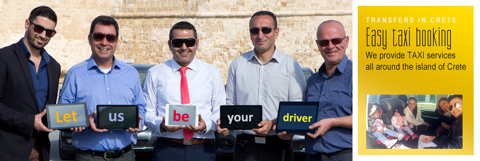 Taxi Transfers in Crete - Let us be your driver