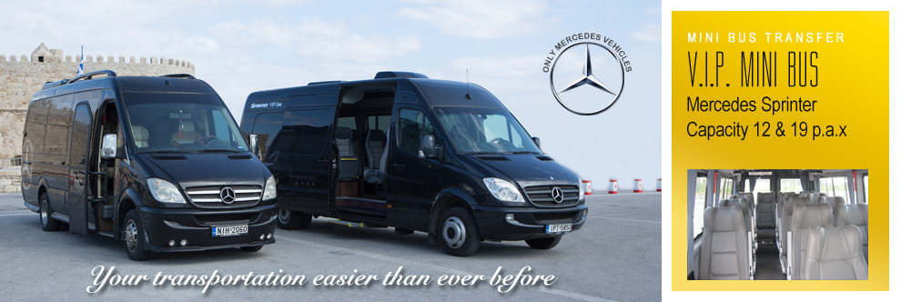 Crete Mini Bus Transfer - Mercedes Viano